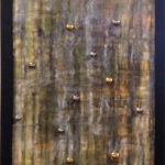 Colored resin, metal on canvas, 16x40in Nikki Gour. $940