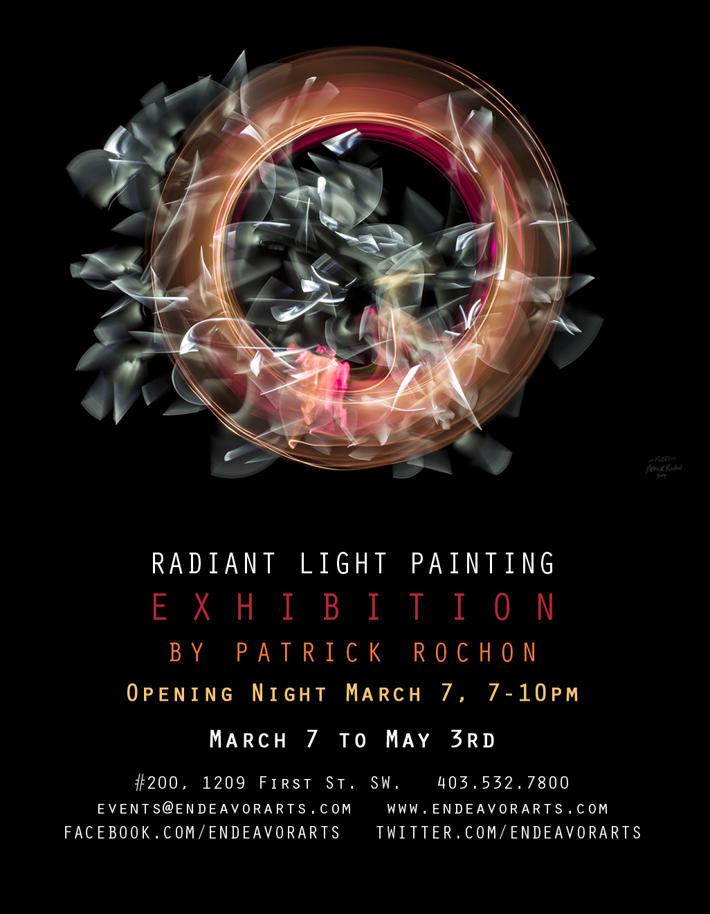 Radiant Light Painting Art Exhibition by Patrick Rochon.