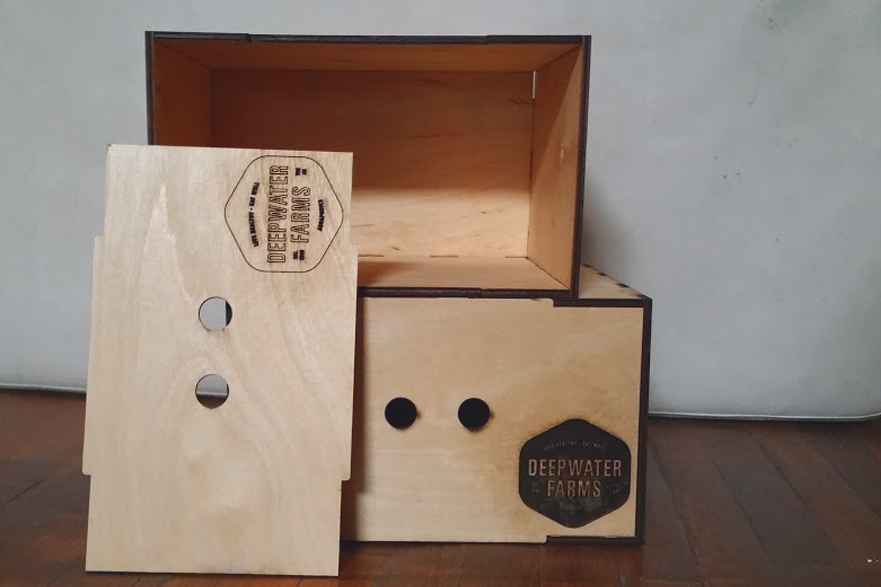 Custom Wooden Boxes for Deepwater Farms